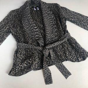 BCBGMAXAZRIA Merino Wool Cardigan Sweater